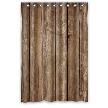 "48"" x 72"" Vintage Rustic Old Barn Wood Shower Curtains"