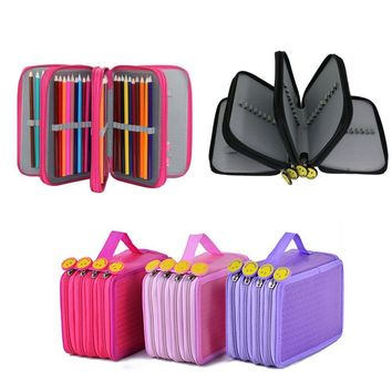 4 Layer 72 Slots Pencil Case Pencil Holder Large Capacity Multi-layer Tools Bags