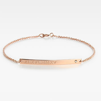 Bar Bracelet with Diamond