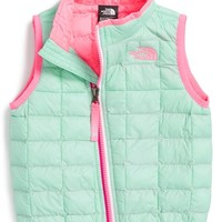 The North Face Infant Girl's 'ThermoBall' PrimaLoft Vest,