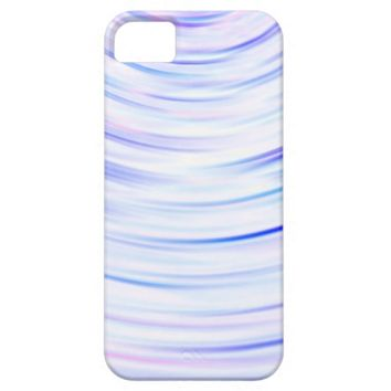 White iPhone case with blue and pink curved rings