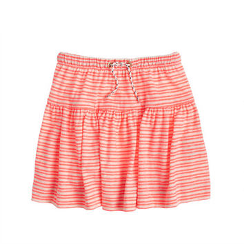 crewcuts Girls Striped Drawstring Skirt