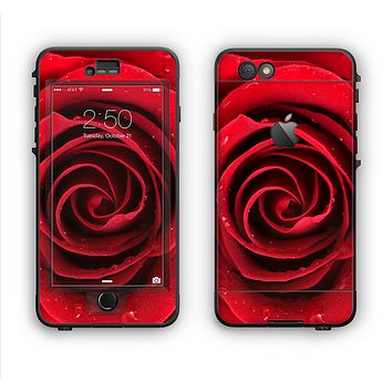 The Layered Red Rose Apple iPhone 6 LifeProof Nuud Case Skin Set