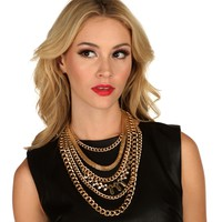 6 Row Chain Link Necklace