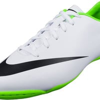 Nike Youth Mercurial Victory IV Indoor Shoes- White and Electric Green - SoccerPro.com