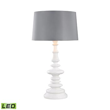 D3100G-LED Corsage Outdoor LED Table Lamp With Silver Shade - Free Shipping!