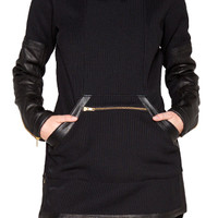 SKINGRAFT - DOUBLE KNIT ZIP TUNIC - BLACK : Well Connected