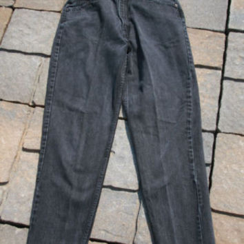 Women's Jeans Denim Black Levi Strauss 921 Relax 12 M #3055
