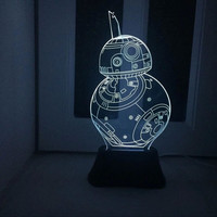 Creative 3D Lights LED Decoration Strong Character Bedroom Living Room Romantic Gifts Lamp [6282380102]