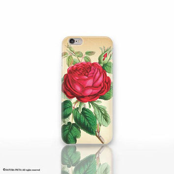 Red rose iPhone X case - iPhone 8/8 Plus case - iPhone 7/7 Plus case - iPhone 6/6 Plus case- iPhone 5/5S case- Galaxy-Huawei case-NP3D209