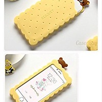 "[CaserBay] iPhone 8 Plus & 7 Plus 5.5"" Phone Case 3D Cartoon Kawaii Biscuits Bear Soft Silicone Rubber Cover (Biscuits Bear)"