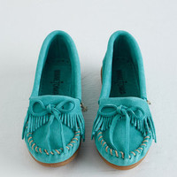 Boho Fundamental Footwork Flat in Aqua