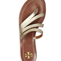 Tory Burch Patos Metallic Leather Thong Sandals | Bloomingdales's