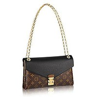 Tagre™ Louis Vuitton Pallas Chain Noir Color Clutch Shoulder Bag Cross Body Article: M41223