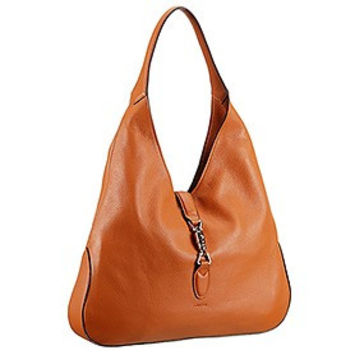 Gucci Jackie Soft Leather Hobo Brown