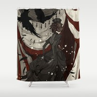 The Night Circus Shower Curtain by Abigail Larson