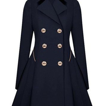 Women Trench Classic waist was coat