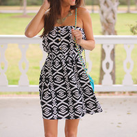 Dock Of The Bay Dress, blk