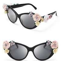 Dolce&Gabbana Oversized Floral Cat Eye Sunglasses | Bloomingdale's