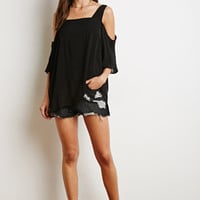 Boxy Open Shoulder Blouse