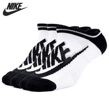 Original New Arrival 2018 NIKE STRIPED NO SH Unisex Sports Socks( 3 pairs )