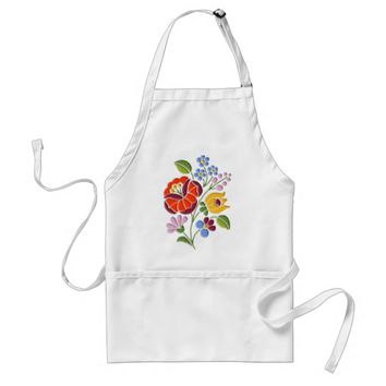 Kalocsa Embroidery - Hungarian Folk Art Adult Apron