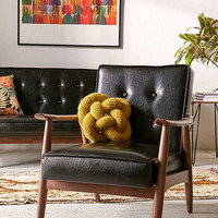 Wyatt Faux Leather Arm Chair | Urban Outfitters
