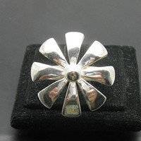 R000359 Stylish STERLING SILVER Ring Solid 925 Umbrella