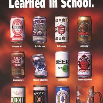 Beers What I Learned in School Poster 22x34