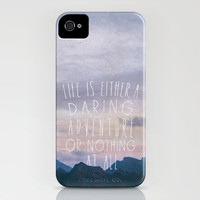 Life is either a daring adventure or nothing at all iPhone Case by Zyanya Lorenzo | Society6