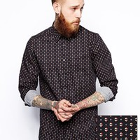 ASOS Smart Shirt With Prism Print And Long Sleeves