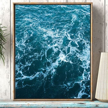 Ocean art print, Wall art ocean waves, Abstract coastal art, wave art print, art print, abstract Ocean artwork, beach art, modern minimalist