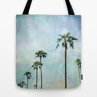 Palm trees Tote Bag by Sylvia Cook Photography