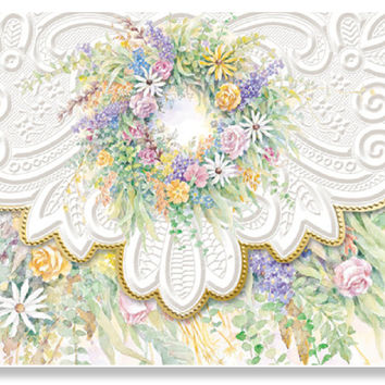 Carol Wilson Wreath Note Card Portfolio