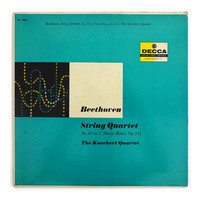 """Anonymous record album design in the style of Erik Nitsche, 1957. """"Beethoven: String Quartet"""" LP"""