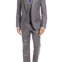 BOSS 'Johnstons/Lenon/We' Trim Fit Three-Piece Solid Wool Suit | Nordstrom