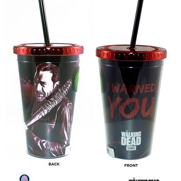 16oz AMC's The Walking Dead PREMIUM Tumbler Travel Cup GIFT with Screw-On Lid and Acrylic Straw