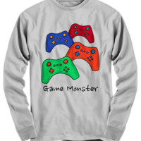 Game Monster Long Sleeve Tee ~ Video Gamer Shirt