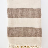 Organic Turkish Linen Towel - Chocolate