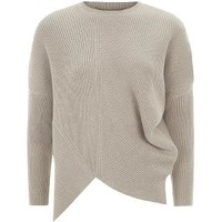 Stella McCartney Asymmetric Ribbed Sweater in Beige | Harrods