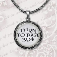 Harry Potter Turn To Page 394 Pendant Necklace