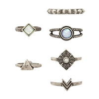 Faux Opal Ring Set | Forever 21 - 1000202019