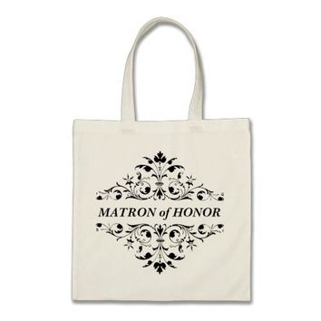 Vintage Ornament Maid of Honor Wedding Tote Bag