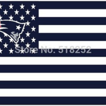 NFL New England Patriots Flag 3' x 5' Stars & Stripes Banner