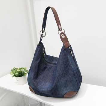 Large Luxury Handbags Women Bag Designer Ladies Hand Bags Big Purses Jean Denim Tote Crossbody Women Shoulder Bags