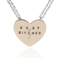 Huan Xun Best Friends Necklace Friendship Jewelry Sisters Necklace Set