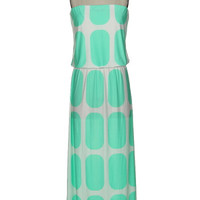 Mint Square Maxi Dress