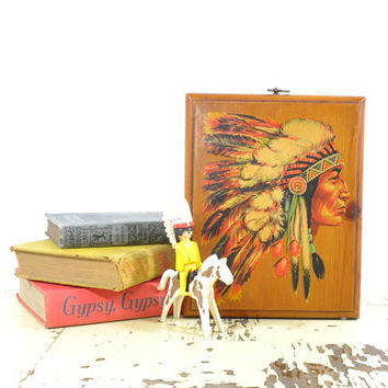 Brulé Sioux • Indian Chief Wall Hanging • Native American Indian Wall Decor • American Indian Decor • Native American Indian Chief