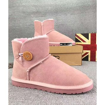 UGG Trending Woman Fur Leather Shoes Boots Winter Half Boots Shoes G-XYXY-FTQ
