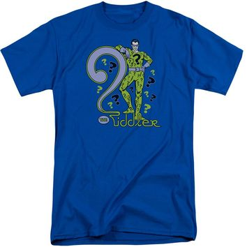 Dc - The Riddler Short Sleeve Adult Tall Shirt Officially Licensed T-Shirt